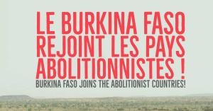 LE CIFDHA SALUE LE PAS DECISIF DU BURKINA FASO VERS L'ABOLITION DEFINITIVE DE LA PEINE DE MORT